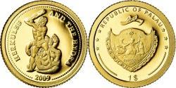 World Coins - Coin, Palau, Hercule, Dollar, 2009, , Gold