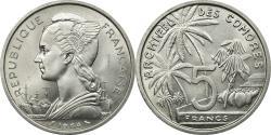 World Coins - Coin, Comoros, 5 Francs, 1964, Paris, ESSAI, , Aluminum, KM:E3