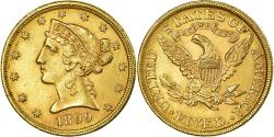 Us Coins - Coin, United States, Coronet Head, $5, 1899, Philadelphia, , Gold