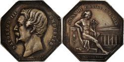 World Coins - France, Token, Napoléon III, Banque, Agents de Change de Paris, 1853, Caqué