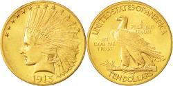Us Coins - Coin, United States, Indian Head, $10, Eagle, 1913, U.S. Mint, Philadelphia