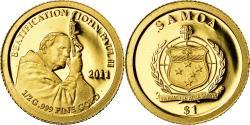World Coins - Coin, Samoa, Beatification of Pope John Paul II, Dollar, 2011, , Gold