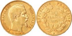 World Coins - Coin, France, Napoleon III, 20 Francs, 1852, Paris, , Gold, KM:774