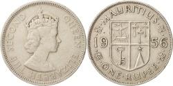 World Coins - Mauritius, Elizabeth II, Rupee, 1956, , Copper-nickel, KM:35.1