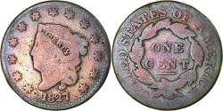 Us Coins - Coin, United States, Coronet Cent, Cent, 1827, U.S. Mint, Philadelphia