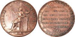 World Coins - Coin, France, Monneron de 2 Sols, 1791, , Bronze, KM:Tn23, Brandon:217