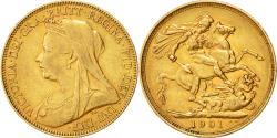 World Coins - Coin, Australia, Victoria, Sovereign, 1901, , Gold, KM:13