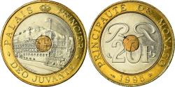 World Coins - Coin, Monaco, Rainier III, 20 Francs, 1995, , Tri-Metallic, KM:165