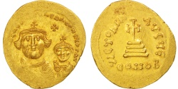Ancient Coins - Heraclius, Solidus, 610-641 AD, Constantinople, Gold, Sear:743