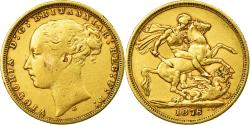 World Coins - Coin, Australia, Victoria, Sovereign, 1876, Sydney, , Gold, KM:7