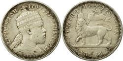 World Coins - Coin, Ethiopia, Menelik II, 1/4 Birr, 1897, Paris, , Silver, KM:3