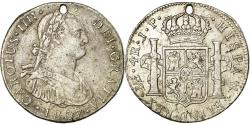 World Coins - Coin, Peru, Charles IV, 4 Réales, 1807, Lima, Holed, , Silver, KM:96
