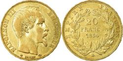 World Coins - Coin, France, Napoleon III, 20 Francs, 1856, Strasbourg, , Gold