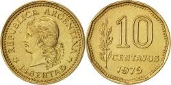World Coins - Argentina, 10 Centavos, 1975, , Aluminum-Bronze, KM:66