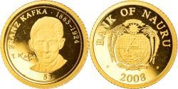 World Coins - Coin, Nauru, Franz Kafka, 5 Dollars, 2008, , Gold