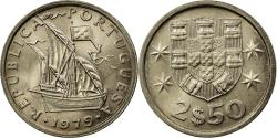 World Coins - Coin, Portugal, 2-1/2 Escudos, 1979, , Copper-nickel, KM:590