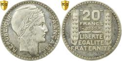 Ancient Coins - Coin, France, Turin, 20 Francs, 1939, Paris, PCGS, MS63, Silver, KM:879, graded