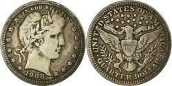 Us Coins - Coin, United States, Barber Quarter, Quarter, 1908, U.S. Mint, Denver