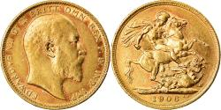 World Coins - Coin, Australia, Edward VII, Sovereign, 1906, Melbourne, , Gold, KM:15