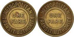Us Coins - United States, Token, Metropolitan Transit Authority