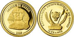 World Coins - Coin, CONGO, DEMOCRATIC REPUBLIC, Sphink de Gizeh, 10 Francs, 2009,