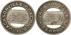 Us Coins - United States, Token, Jacksonville Coach Company