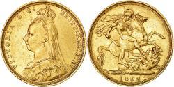 World Coins - Coin, Australia, Victoria, Sovereign, 1893, Sydney, , Gold, KM:13