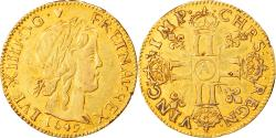 World Coins - Coin, France, Louis XIV, Louis d'or à la mèche longue, Louis d'Or, 1649