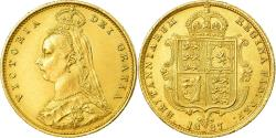 Ancient Coins - Coin, Great Britain, Victoria, 1/2 Sovereign, 1887, London, , Gold
