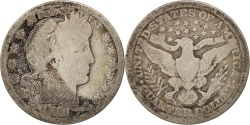 Us Coins - United States, Barber Quarter, Quarter, 1911, U.S. Mint, Philadelphia
