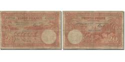 World Coins - Banknote, Belgian Congo, 20 Francs, 1943, 1943-03-10, KM:15C, VG(8-10)