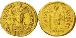 Zeno, Solidus, Constantinople, EF(40-45), Gold, RIC:910