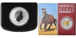 World Coins - Coin, Australia, Year of the Horse, 1 Dollar, 2014, 1 Oz, , Silver
