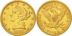 Us Coins - Coin, United States, Coronet Head, $5,1897, Philadelphia,, Gold, KM 101