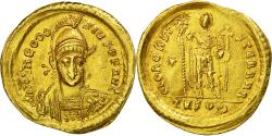 Coin, Theodosius II, Solidus, Thessalonica, AU(50-53), Gold, RIC:361