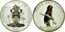 World Coins - Coin, Bahamas, Elizabeth II, 10 Dollars, 1995, , Silver, KM:167