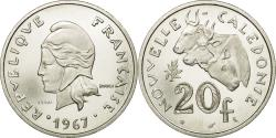 World Coins - Coin, New Caledonia, 20 Francs, 1967, Paris, ESSAI, , Nickel, KM:E12