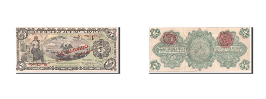 World Coins - Mexico - Revolutionary, 5 Pesos, 1914, KM #S702b, EF(40-45), B