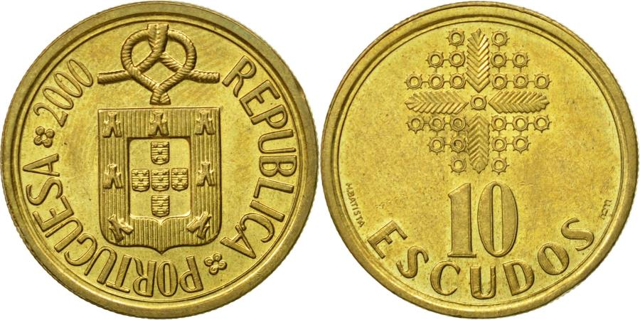World Coins - Coin, Portugal, 10 Escudos, 2000, , Nickel-brass, KM:633