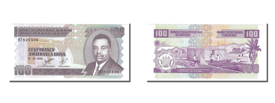 World Coins - Burundi, 100 Francs, 2006, KM #37e, 2006-05-01, UNC(65-70), HT