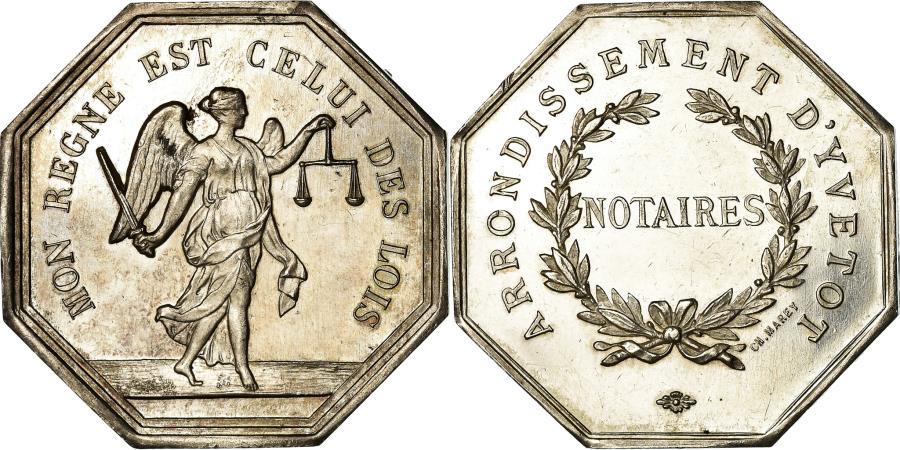 World Coins - France, Token, Notaires de l'Arrondissement d'Yvetot, , Silver