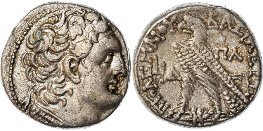 Ancient Coins - Coin, Egypt, Ptolemaic Kingdom, Ptolemy XII, Tetradrachm, 68-67 BC, Alexandria