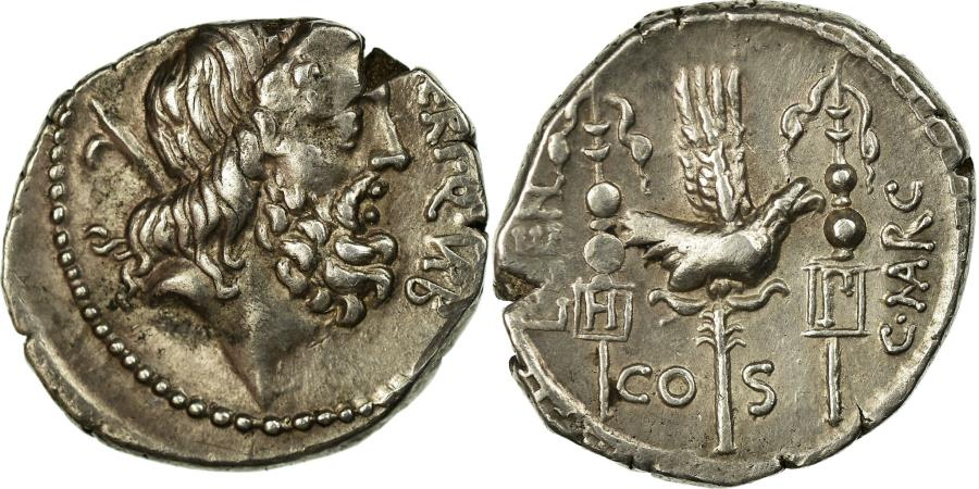 Ancient Coins - Coin, Neria, Denarius, Rome, AU(55-58), Silver