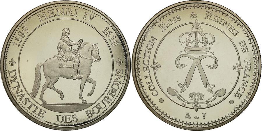 World Coins - France, Medal, Les rois de France, henri IV, , Cupro-nickel
