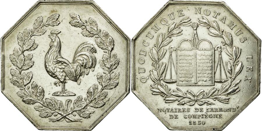 World Coins - France, Token, Notary, 1830, AU(55-58), Silver, Lerouge:104b