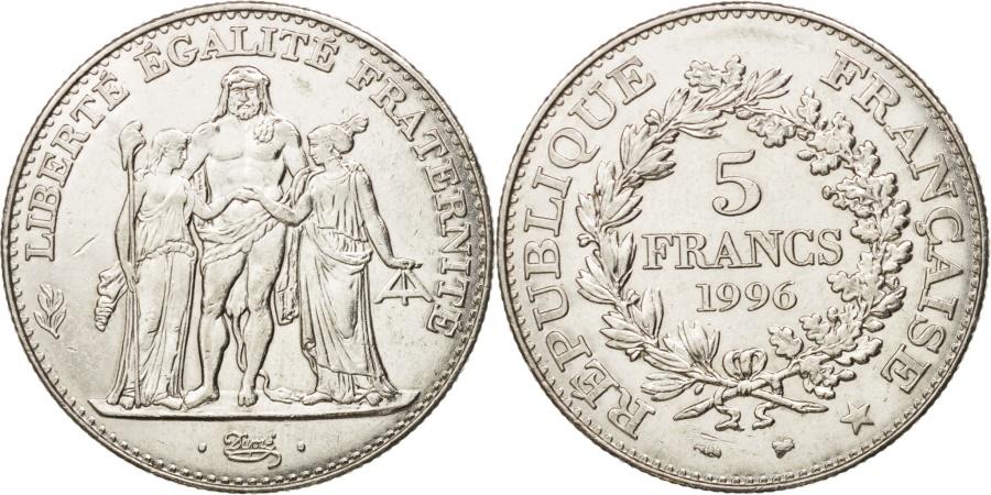 World Coins - France, Hercule, 5 Francs, 1996, Paris, , Nickel, KM:1155, Gadoury:777