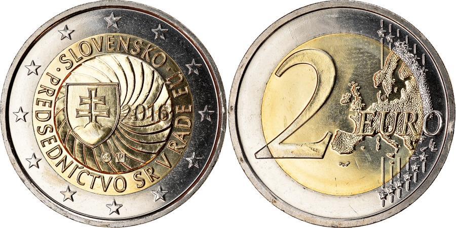 World Coins - Slovakia, 2 Euro, Présidence de l'UE, 2016, , Bi-Metallic