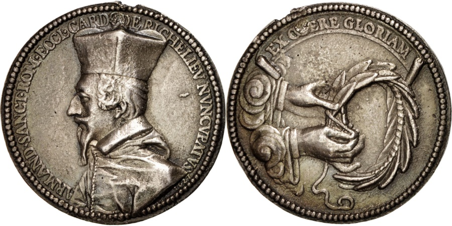 World Coins - France, Richelieu, History, Medal, 1627, , Silver, 49mm