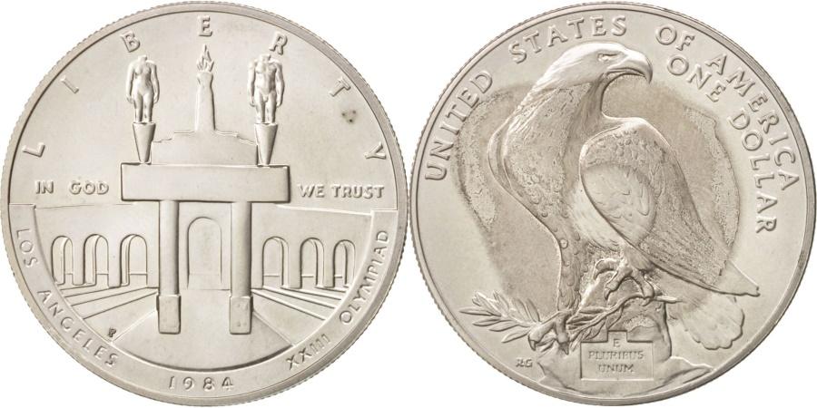 US Coins - United States, Dollar, 1984, U.S. Mint, Philadelphia, , Silver, KM:210