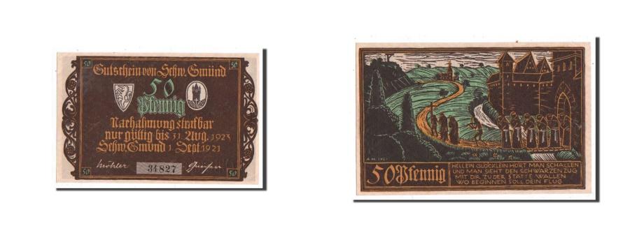 World Coins - Germany, Schwäbisch-gmünd, 50 Pf, prière, 1921-09-01, UNC(65-70), Mehl1205.1